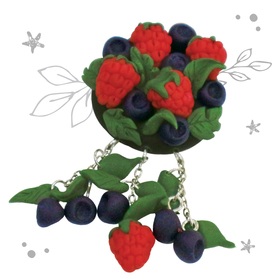 """Brooch made of polymer clay with your hands """"Berries"""""""