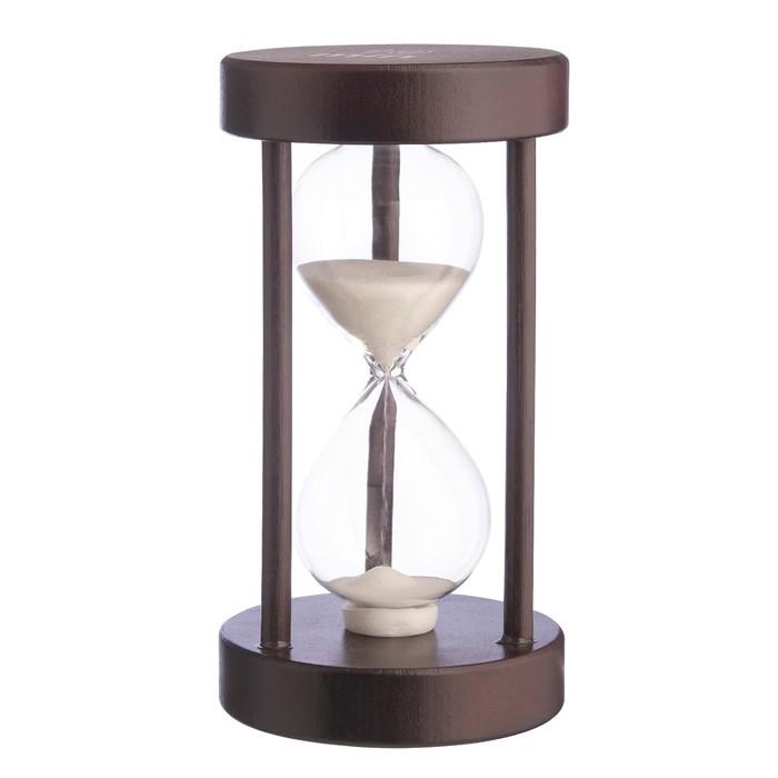 Часы песочные на 10 минут, круглые, микс песка, 8х14 см - фото 797975639