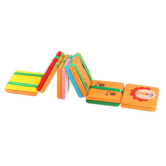 Головоломка с переворачивающимися цветными квадратами с рисунком 6 видов, цвета МИКС