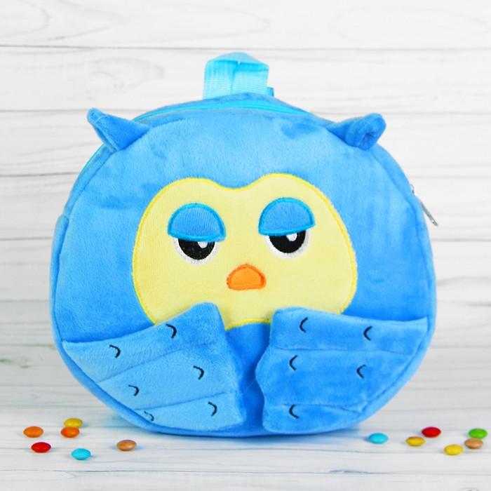 Мягкий рюкзак «Совунья», цвет голубой