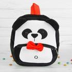 Мягкий рюкзак «Панда», с красной бабочкой