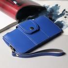 Сумка жен 6838, 19*1*10, 2 отдела на молнии, ручка, синий