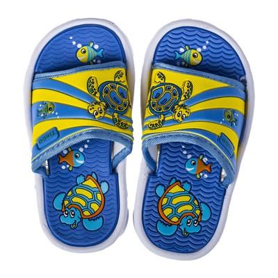 Сланцы детские пляжные арт. BB35001, цвет Желто/голубой, размер 27