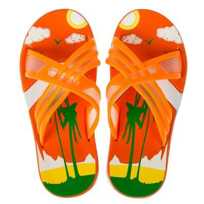 Сланцы детские пляжные арт. BC6-53819, цвет Оранжевый, размер 32