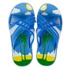 Сланцы детские пляжные арт. BC6-53819, цвет голубой, размер 30
