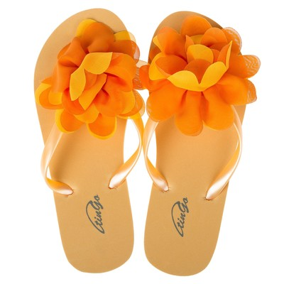 Сланцы женские пляжные арт. BL40150, цвет Оранжевый, размер  36