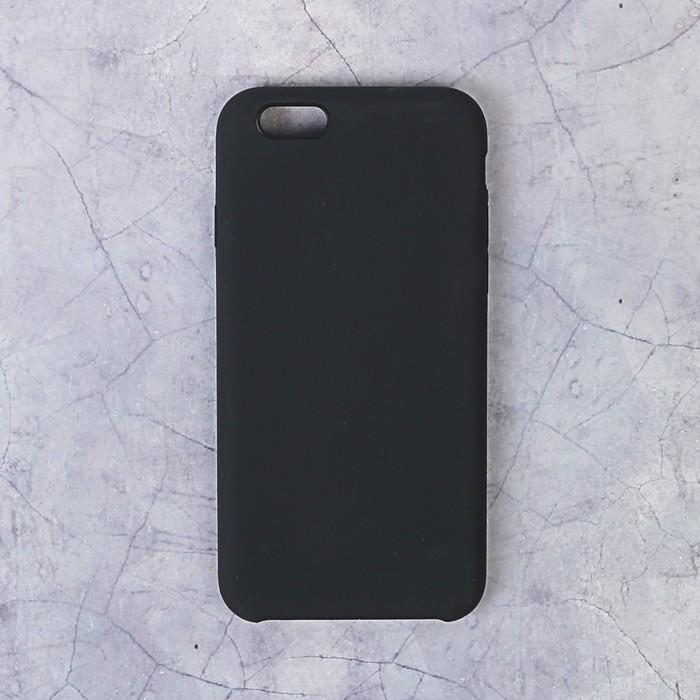 Чехол силиконовый LuazON IPhone 6, чёрный
