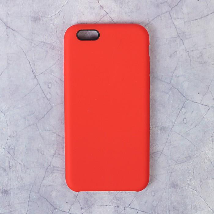 Чехол силиконовый LuazON IPhone 6, красный