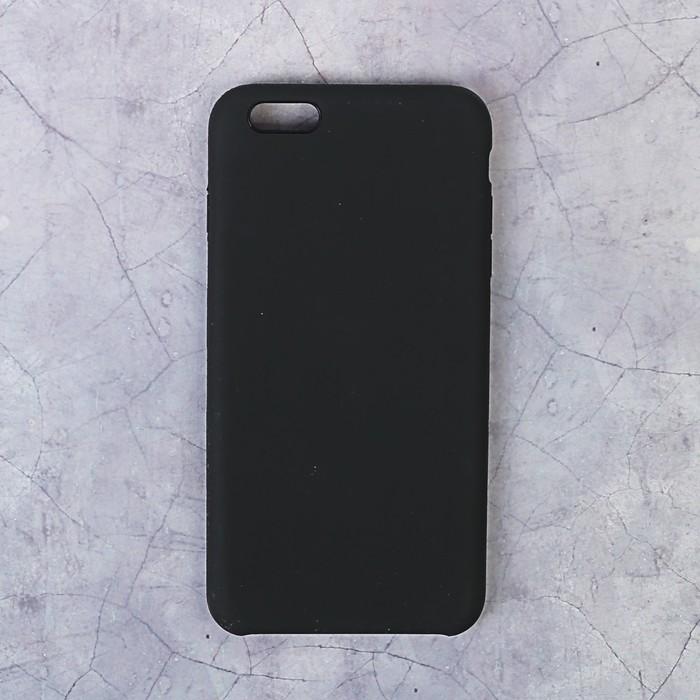 Чехол LuazON силиконовый IPhone 6 Plus, чёрный