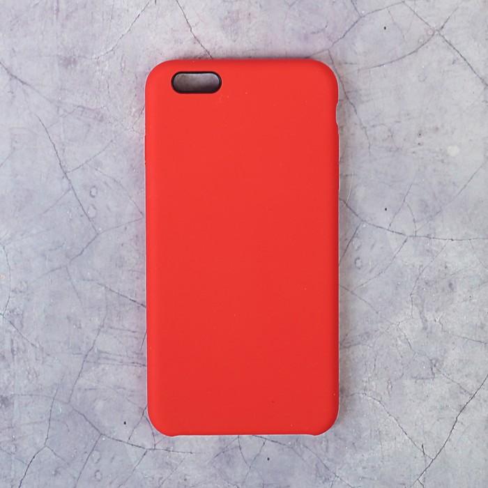 Чехол LuazON силиконовый IPhone 6 Plus, красный