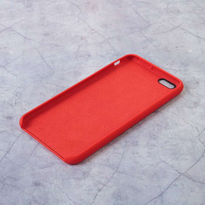 Чехол силиконовый IPhone 6 Plus, красный
