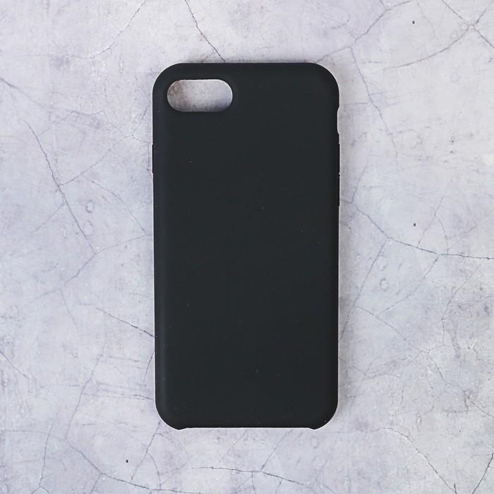 Чехол силиконовый LuazON IPhone 7/8, чёрный