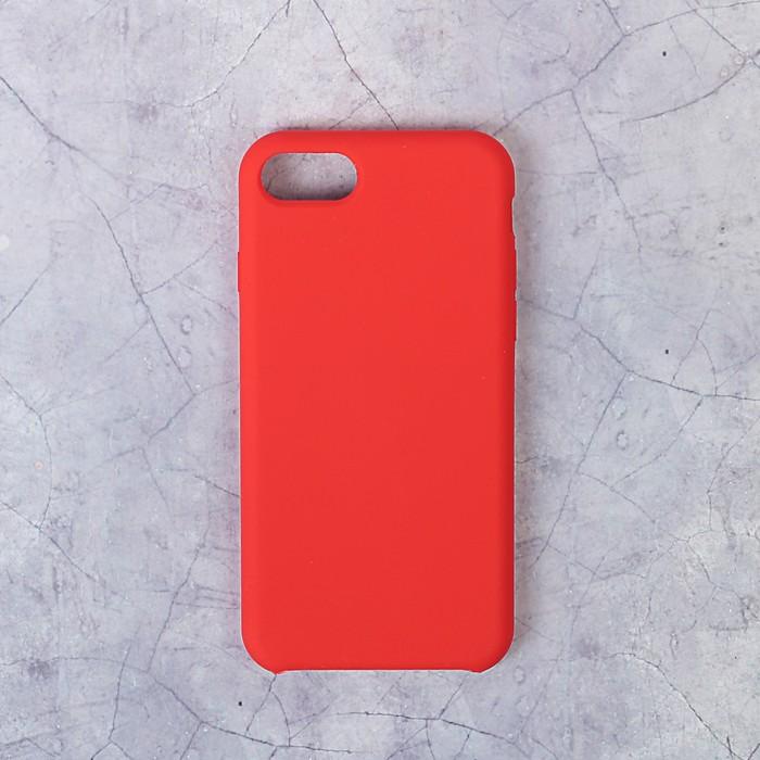 Чехол силиконовый LuazON IPhone 7/8, красный