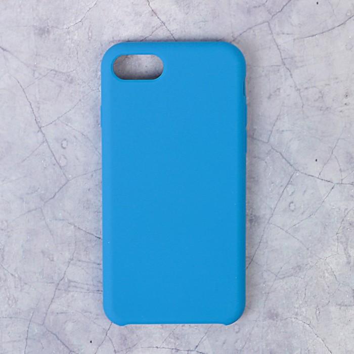 Чехол силиконовый LuazON IPhone 7/8, синий