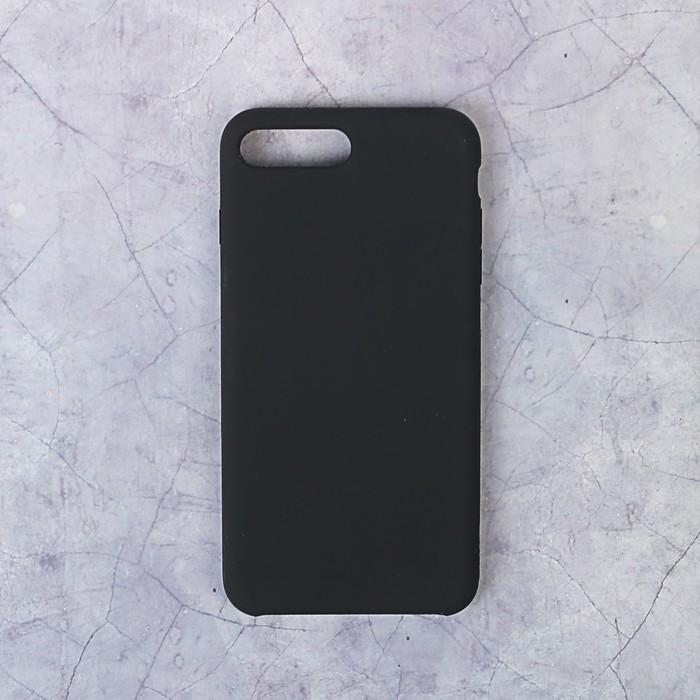Чехол LuazON силиконовый IPhone 7/8 Plus, чёрный