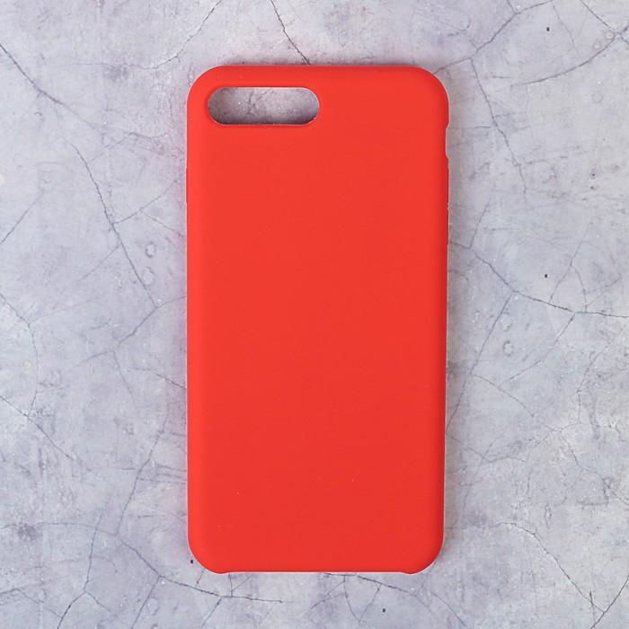 Чехол LuazON силиконовый IPhone 7/8 Plus, красный