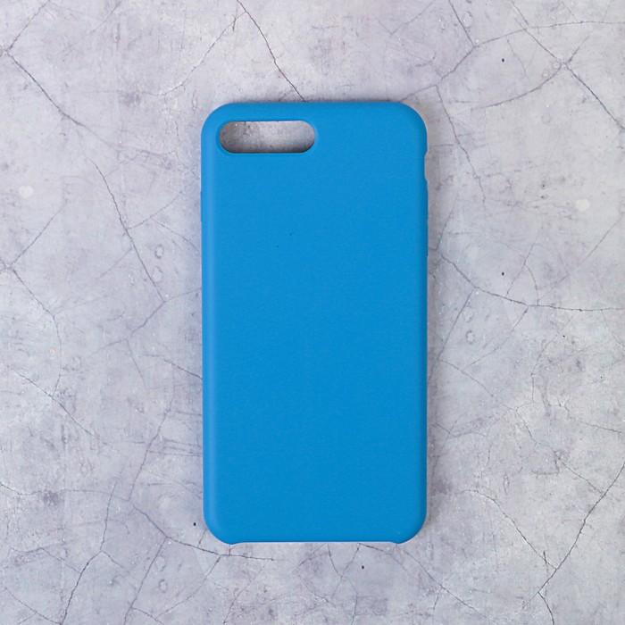 Чехол LuazON силиконовый IPhone 7/8 Plus, синий