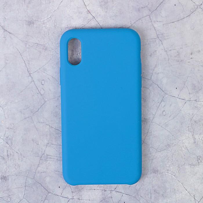 Чехол LuazON силиконовый IPhone X, синий