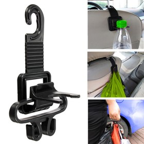 Hanger on headrest, black