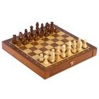 Шахматы деревянные, клетка 2.5 см, (фигуры от 2.5 см до 5.5 см), дно раздвижное, 26х26 см