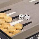 Нарды деревянные в чёрном чемодане, фишка 2.5 см, кубик 1.5 см, 38х5.5х24 см