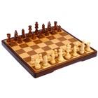 Шахматы деревянные, клетка 4 см, (фигуры от 4 см до 8 см с подложкой), 37.5х18.5 см