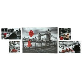 """Модульная картина """"Венецианская набережная"""" 108х66см ( 23х23-2шт, 23х42-2шт, 71х52-1)"""