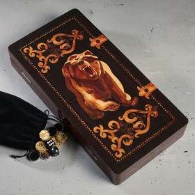 "Backgammon gift ""Bear"""