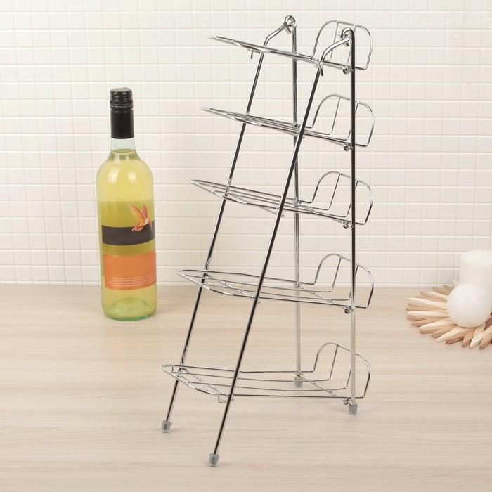 Подставка под бутылки на 5 предметов 10,5х23,5х43 см