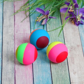 Мяч каучук 'Полосатик' 3,3 см цвета МИКС Ош