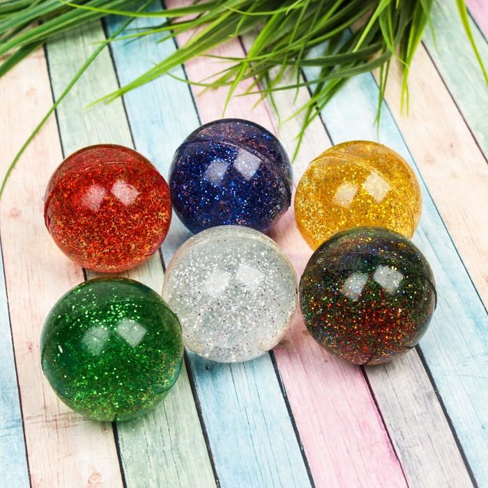 Мяч каучуковый «Блеск», 4 см, цвета МИКС