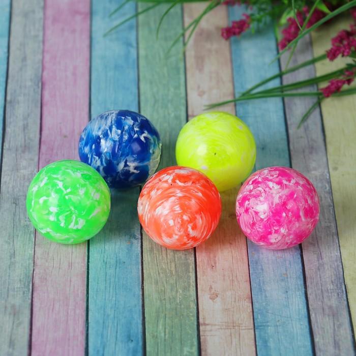 Мяч каучуковый «Пёстрый», 4,1 см, цвета МИКС