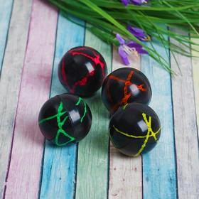 Мяч каучук 'Цветной' 4 см, цвета МИКС Ош