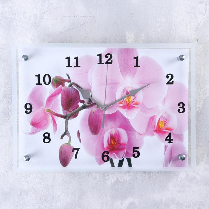 """Часы настенные """"Орхидея"""",  25х35 см"""