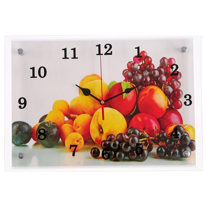 "Часы настенные, серия: Кухня, ""Фрукты"", 25х35 см микс"