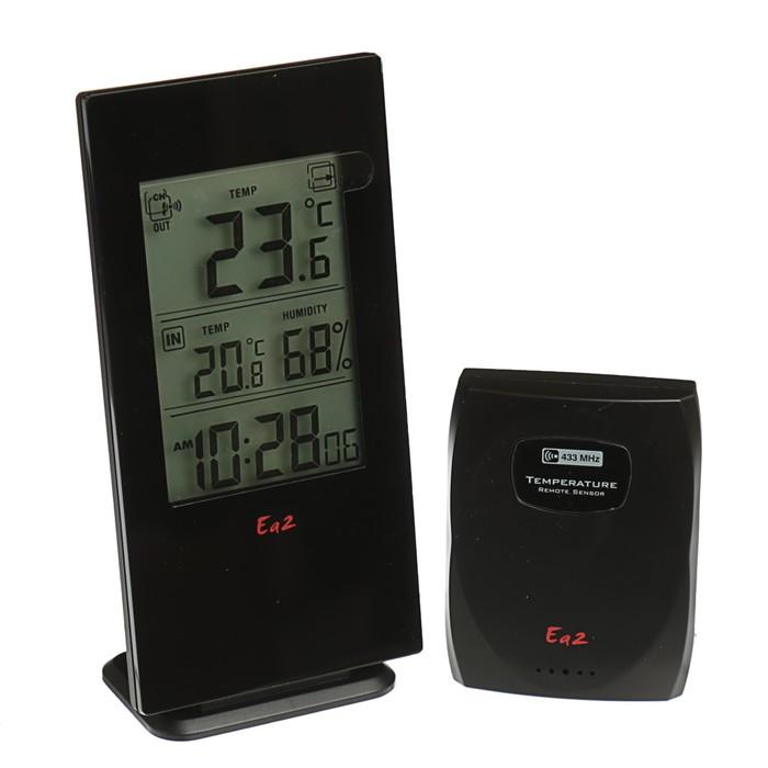 Термометр Ea2 BL502, влажность, радио-датчик, черный