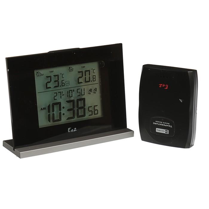 Термометр Ea2 EN201 Eternity, влажность, радио-датчик, черный