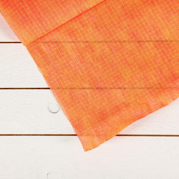 Материал укрывной, армированный, 5 × 3 м, плотность 60, с УФ-стабилизатором, красно-желтый, «Агротекс»