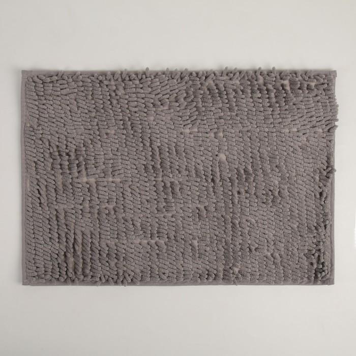 Коврик Доляна «Букли длинные», 40×60 см, цвет серый - фото 7930352