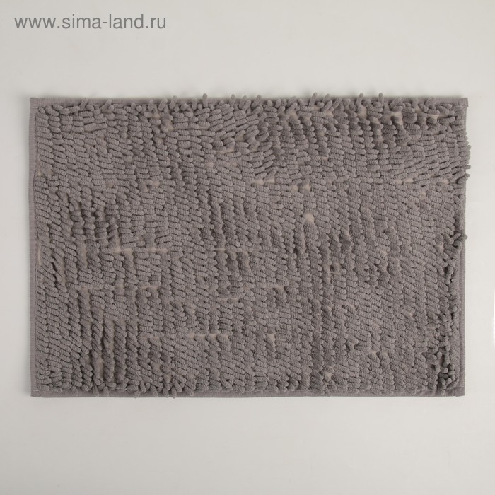 """Bath Mat """"and Wore long"""", color gray"""