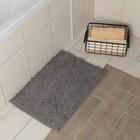 """Коврик для ванной """"Букли длинные"""", цвет серый"""