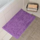 """Коврик для ванной """"Букли длинные"""" 50х80 см, фиолетовый"""