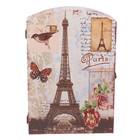 """Ключница дерево 6 крючков """"Эйфелева башня. Париж"""" 29х20х6,8 см"""