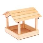 """Кормушка """"Домик"""" деревянная, 22х20х21см"""
