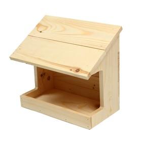 Кормушка для птиц «Тент», 11 × 24 × 19 см, деревянная