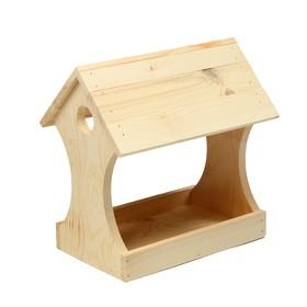 Кормушка для птиц «Беседка», 11 × 24 × 19 см, деревянная