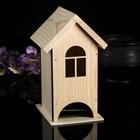 Чайный домик из массива СОСНЫ, натуральный, 9,5х9,5х18см
