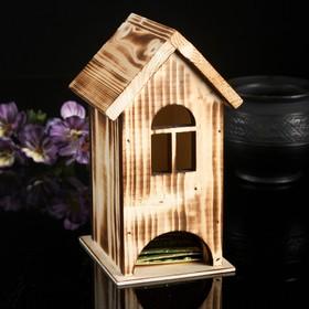 Чайный домик из массива СОСНЫ, экзотик, 9,5х9,5х18см