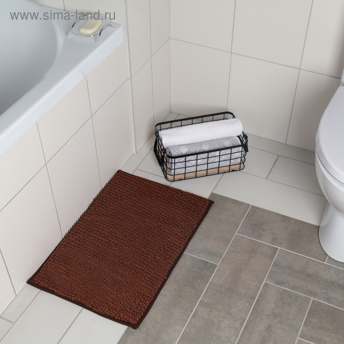"""Bath Mat """"Buckle"""", color brown"""