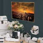 """Poster A4 interior """"In the center of the metropolis"""", 29 x 21 cm"""